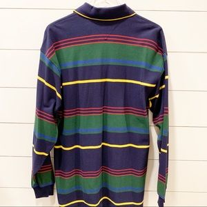Tommy Hilfiger Shirts - TOMMY HILFIGER Long Sleeve Stripe Polo NWOT Size M
